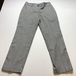 Talbots Curvy Fit Gray Blue Jacquard Straightleg Dress Pants Sz 8P A2181
