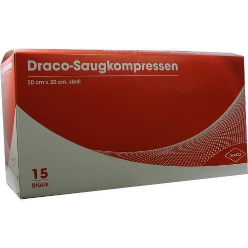 SAUGKOMPRESSEN steril 20x20cm Draco 15St Kompressen PZN 6563141