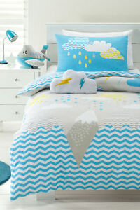 Pop-Mountain-Blue-Grey-Geometric-Single-Cotton-Quilt-Duvet-Cover-Cloud-Cushion