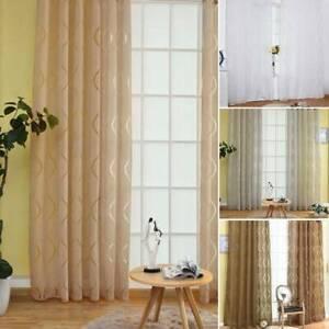 2-Panels-Voile-Slot-Top-Curtains-Plain-White-Net-Window-Curtain-home-Decors-UK