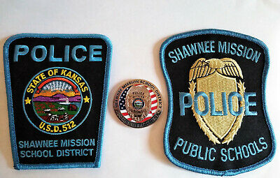 USED Shawnee Mission Public Schools Security Patch Police Kansas OLD STYLE