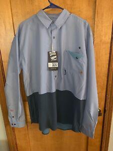 AgréAble Neuf Avec étiquettes Western Rise Pioneer Pop-over Pullover Fishing Shirt Homme-taille Xxl-afficher Le Titre D'origine êTre Hautement Loué Et AppréCié Par Le Public Consommateur