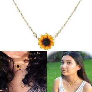 Girasol-colgante-collar-de-cadena-mujeres-simples-perlas-princesa-collares