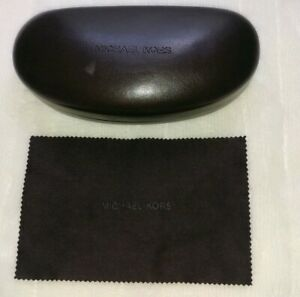 MICHAEL-KORS-MEDIUM-BROWN-SUNGLASSES-CASE-WITH-CLEANING-CLOTH