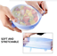 Stretch Silicone Cover lids to keep food fresh 3 or 6 sizes//pack UK SELLER