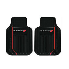 New 2pc Dodge Elite Car Truck Suv Van Front Heavy Duty Rubber Floor Mats Set