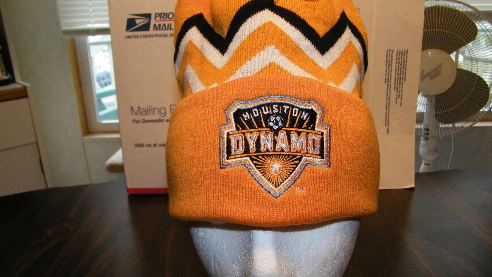 4675ad08c9e Houston Dynamo adidas Cuffed Knit Hat With Pom Official MLS