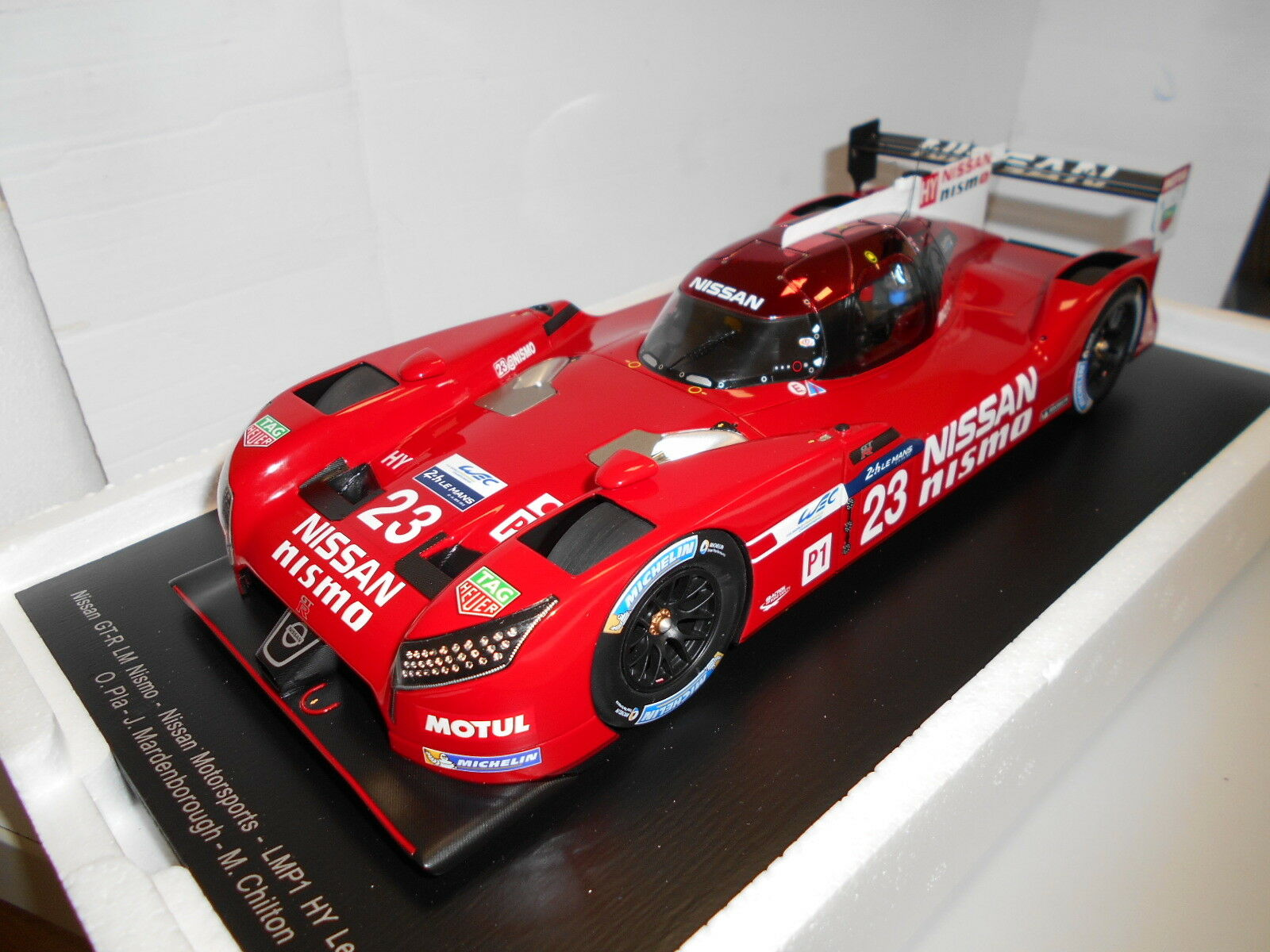 by SPARKMODEL NISSAN GT-R LM NISMO 23 2018 1:18