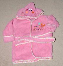 ADORABLE! KOALA BABY HOODED BATHROBE 0-9M PINK OCTOPUS