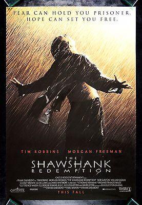 SHAWSHANK REDEMPTION * CineMasterpieces ORIGINAL MOVIE POSTER PRISON RAIN 1994