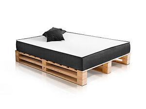 Doppelbett Holzbett Palettenbett Bett 160x200 Cm Jugendbett Paletti
