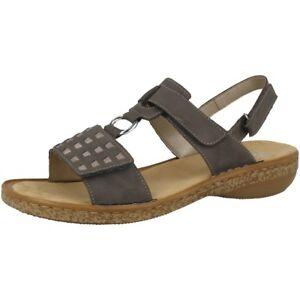 Neapolis 62883 Sandaletten Dauomo Grey Rieker 45 Sandalen Antistress plato Schuhe vqxdU