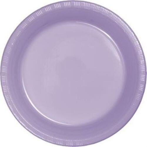 """Lavender 10/"""" Plastic Dinner Plates 20 Per Pack"""
