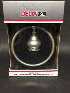 Delta 74046nc Chrome Pearl Nickel Finish Towel Ring 34449432436 Ebay