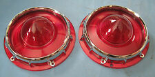 1957 Ford and Thunderbird tail light lens pair NEW also 1957 and 1958 Ranchero