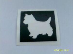 10 - 400 West Highlander / Scottish Terrier dog stencils for etching on glass