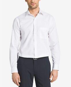 Van-Heusen-Men-039-s-Regular-Fit-Poplin-Dress-Shirt-White-Size-15-5-32-33