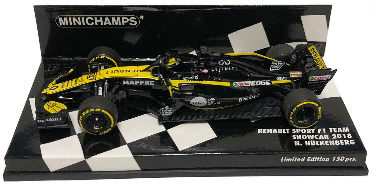 MINICHAMPS RENAULT SPORT F1 TEAM Car 2018-Nico Hulkenberg échelle 1 43