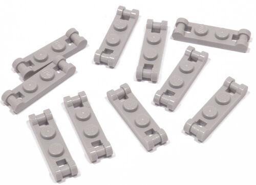 Lego 10 x placa 1x2 gris claro con 2 x soporte//ASA//18649 productos nuevos e10