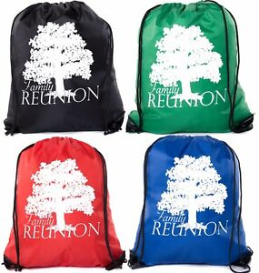 family reunion gift bags for family reunion favors drawstring bags