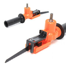 Universal Portable Electric Drill Reciprocating Saw Adapter Set w//3 Saw Blade US