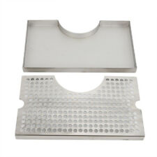 Tower Drip Tray Stainless Steel Cutout Draft Beer Removable Grate No Drain Us
