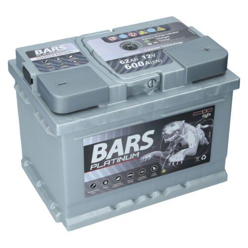 Autobatterie BARS PLATINUM 12V 62Ah Starterbatterie WARTUNGSFREI TOP ANGEBOT NEU
