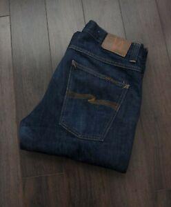 Nudie-Jeans-Slim-Jim-Blue-Size-34x31-F1130a6