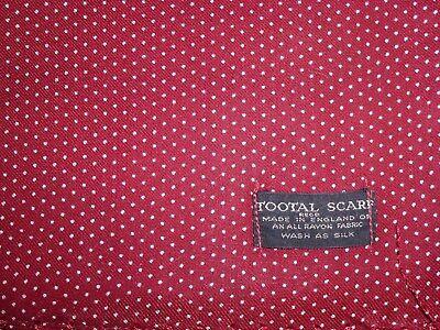 Amabile Vintage Tootal Polkadot Pois Sciarpa Foulard Da Collo Dapper Scooter Raf Pilota Ww1-mostra Il Titolo Originale