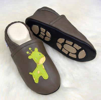 Devoto Pantofole's Baby Schläppchen Pantofole Con Suola In Gomma Parte - #645b Giraffe- Brividi E Dolori