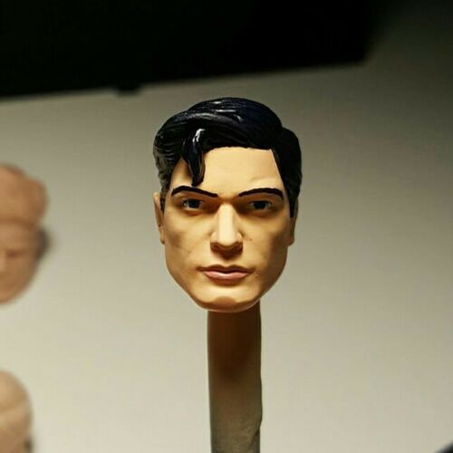 Marvel Legends scale 6 inch Custom Superman Head Cast PAINTED.