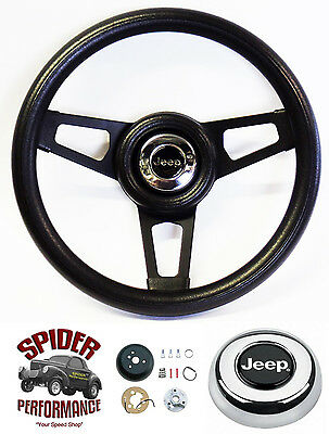 """1967-1975 CJ5 CJ6 steering wheel JEEP 13 1//2/"""" WALNUT 4 SPOKE"""