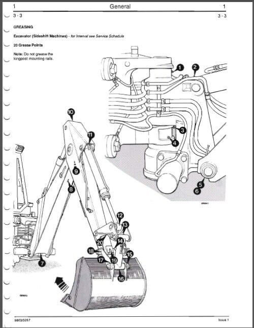JCB 200 Series ( 3CX 1400B 1550B 1700B ) Backhoe Loader Service Manual Jcb B Altinator Wiring Diagram on