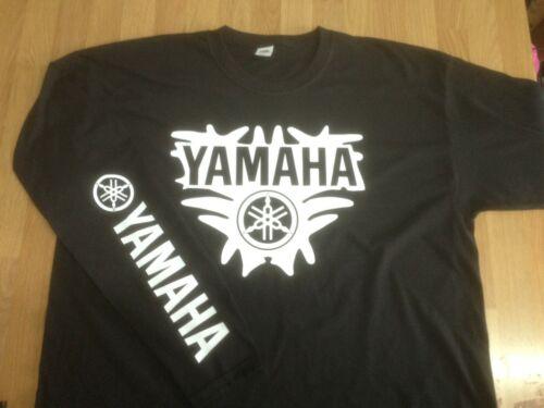 Logo x 2 Long Sleeve Lightweight Summer T-shirts Yamaha Motorcycles Splash