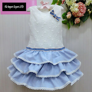 Vestito-Bambina-Abito-Estate-Principessa-Balze-Girl-Summer-Princess-Dress-DG0032