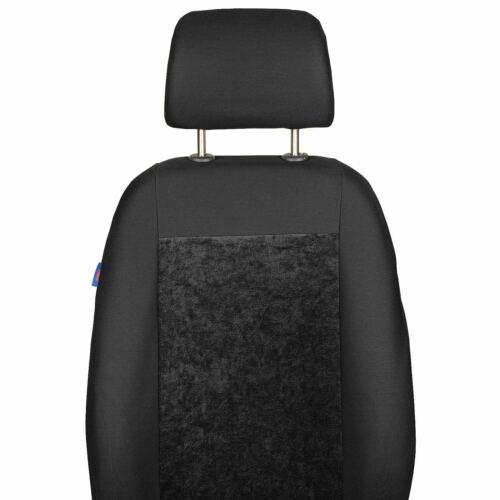 Schwarze Velours Sitzbezug für AUDI A4 Fahrer Sitzbezug
