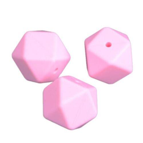 Hazlo tú mismo 8 un seguridad de silicona Cruz secciones geométrica granos Hágalo usted mismo Juguete Molar de bebé 17mm