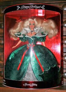 HALLMARK VICTORIAN HOLIDAY BARBIE 1995 NEW IN BOX NEVER DISPLAYED WHITE DRESS