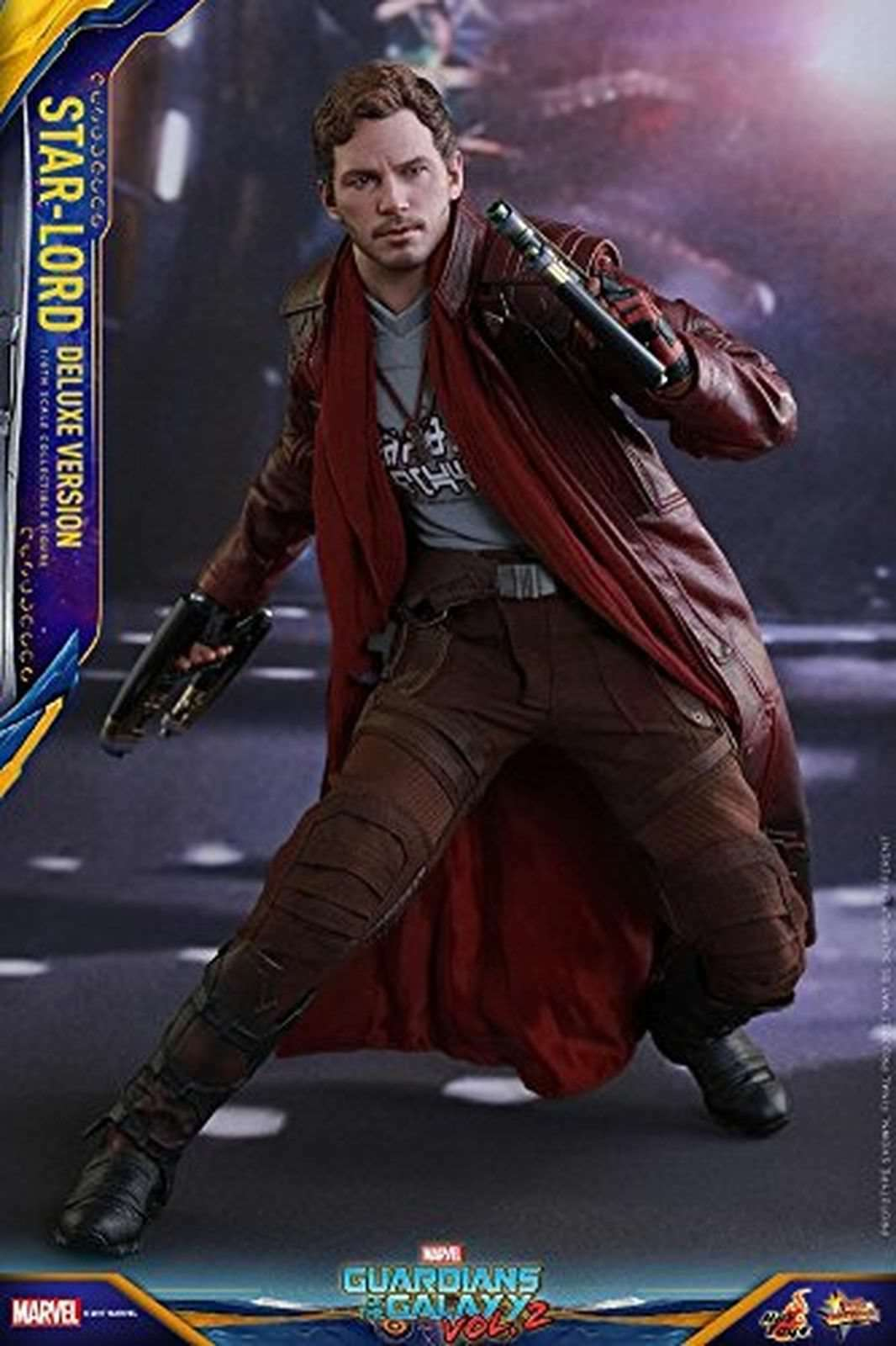 Hot Toys Star-Lord (Deluxe Version) 1 6 Scale Collectible GUARDIANS OF GALAXY