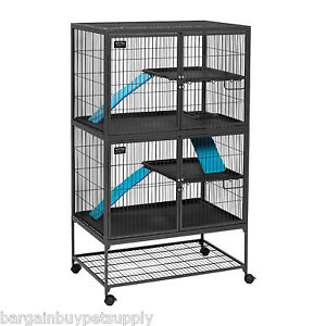 Midwest-Ferret-Nation-Small-Pet-Double-Unit-Pen-Cage-with-Stand