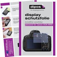 6x Canon Eos 650d Schutzfolie Klar Displayschutzfolie Folie Unsichtbar Passgenau