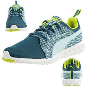 Détails sur Puma Carson Coureur Tricoté Femme Fitness Chaussures Baskets 188151 01 Bleu