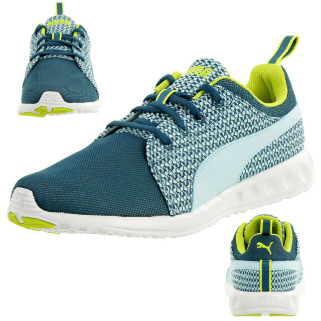 8219c2dc2f6000 Puma Carson Runner Knit Women s Fitness Shoes Trainers 188151 01 Blue