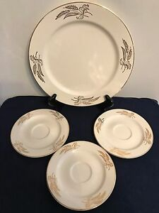 Image is loading Vintage-Prairie-Gold-by-Lifetime-China-Co-Semi- & Vintage Prairie Gold by Lifetime China Co. Semi Vitreous Gold lot of ...