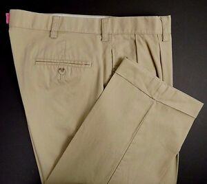 Polo Ralph Lauren Mens Casual Pants Size 34 x 34 Khaki Hammond Pant 100% Cotton