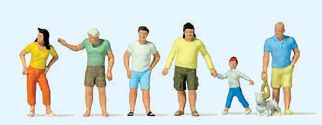 Figurines Preiser H0 (10672): Spectateurs, Été Vêtements