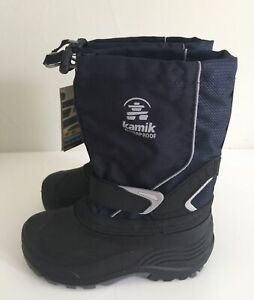 "NEW ~ KAMIK ""Sleet"" Youth Navy Snow Boots~~Size 2"