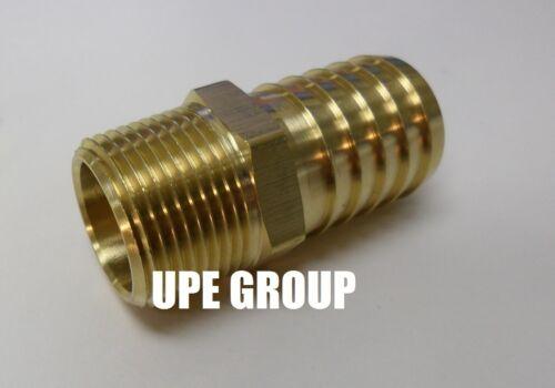"1/"" HOSE BARB X 3//4  MALE NPT Brass Pipe Fitting NPT Thread Gas Fuel Water Air"