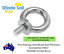 Eye bolt with Collar 10M 16mm thread 316 Stainless Steel Electropolished