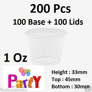 200-Pcs-100-Base-100-Lids-1Oz-30ml-Round-Sauce-Take-Away-Containers